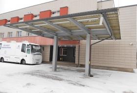 SA Jõgeva Haigla kiirabi varikatuse ehitus