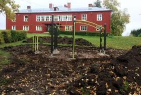 Mänguväljaku paigaldamine Holstre koolile Viljandimaal